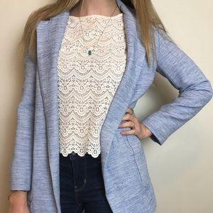 ZARA blue long jacket / blazer size S